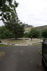 View of Stones of Scotland with Arthur's Seat in background