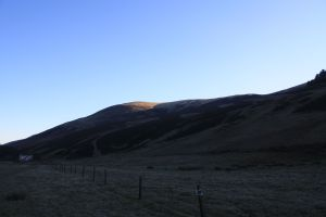 The climb out of the Howe to Carnethy