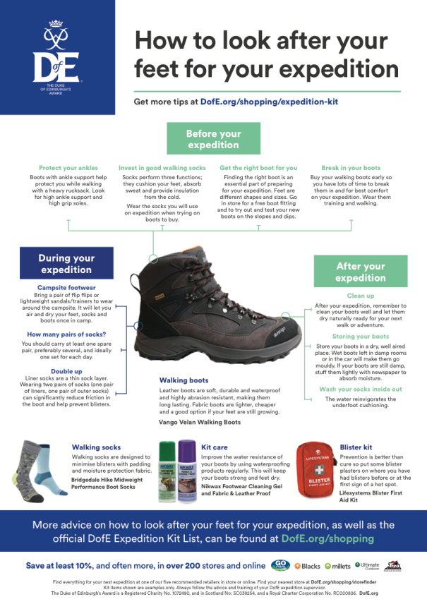 DofE-Looking-after-your-feet-poster-A3