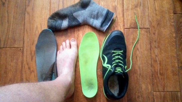 Foot, shoe, sock and insoles