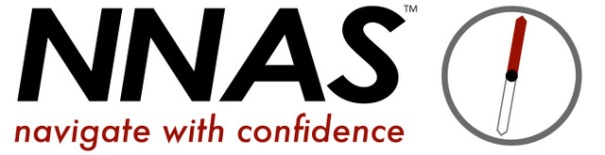 NNAS logo, which is 'NNAS: navigate with confidence' and a simple compass